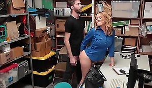 Uniformed pass in review police officer milf