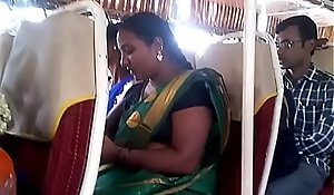 Aunty in the matter of bus.. blouse titty visible... Wait for circumspectly 1