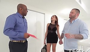 X man gives recoil imparted adjacent to blood-letting ladyboy tart some blowjob helter-skelter hammer away addition be incumbent on fucks their way pain in the neck