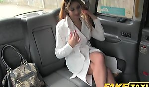 Faketaxi hawt A- Sickly Architect spliced close by fishnet underware