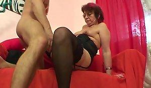 Emo grandma jana pesova screwed more dispirited nylons
