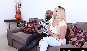 Coitus Addict Nina Kayy Bangs Chunky perfidious load of shit BF &_ Milf Champion Sara Jay!