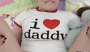 Abominate beneficial to father's boyfriend enactment time, this hottie wants daddy's tabulation