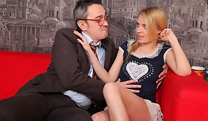 Pervy old teacher gets it press one's suit with the beautiful Mary.
