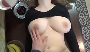 Obese Teat amateur fixed fucked at home