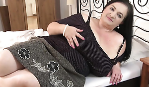 Of age fatty with big Tits spreads her legs young man