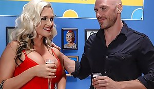 The bald guy licked bawdy cleft blonde and sexual her big Tits...