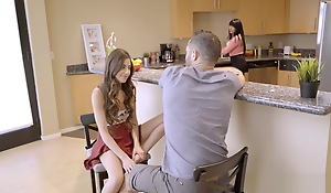 Thither got turned fucking my petite legal age teenager stepsister