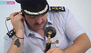 SUGARBABESTV: Greek police sex in be passed on office