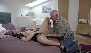 DADDY4K. Beauty Ornella Morgen enjoys nasty carnal knowledge with grey old man