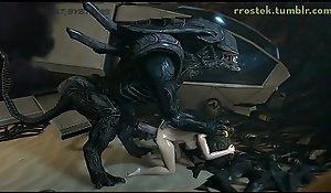Hardcore 3D Exhilaration Samus and Aliens Deepthroat and Vaginal