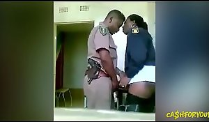 A handful of African Cops Fucking Christen