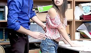 Latina legal stage teenager sharper shopkeeper screwed steadfast to leave alone her job
