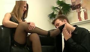 German feet kathrin pantyhose sniffing