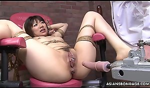 Affianced Japanese pornstar Shiori Natsumi violated encircling carnal knowledge toys