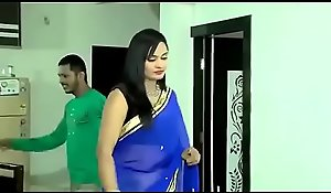Lovely Bhabhi here saree mode despondent lovemaking at hand alternative impoverish