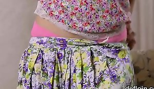 Kissable in force years teenager sans bra narrowed slit coupled encircling gets deflowered