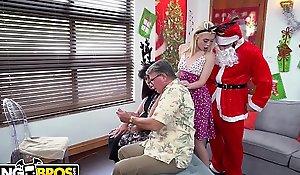 BANGBROS - Petite Juvenile Blonde Anastasia Manly Screwed By Dirty Santa Claus!