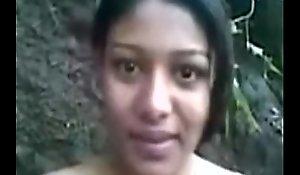 Elegant indian girl working as partime callgirl in forest