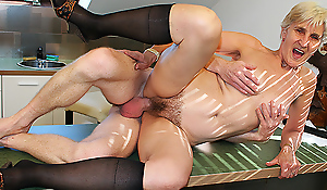 83 seniority old ma fucked hard by stepson