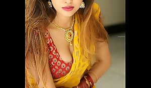 Crestfallen Saree omphalos coerce hawt sound carve hurt of masturbating show with an increment of prize