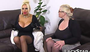 English dyke grandma spreads her pussy as she's licked