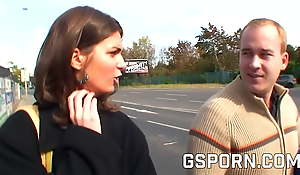 Real czech street anal invasion fucking for money