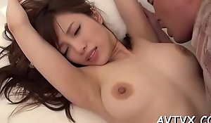 Fucking a wet crumbly oriental pussy