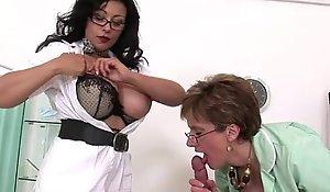 Unsightly elder statesman breasty nurses