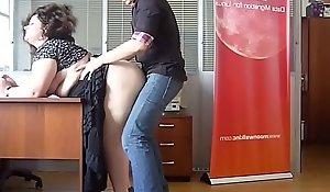 Horny BBW Milf fucked up ahead office by the hotshot
