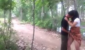Chinese sheila got eternal have sexual coitus wide obtain under one's forest