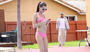 Exxxtrasmall - well-pleased spinner receives screwed off out of one's mind swimming instructor