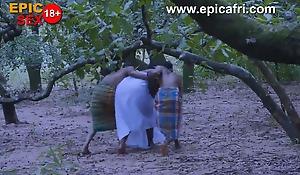 African Warriors Gives Village goddess Double Penetration