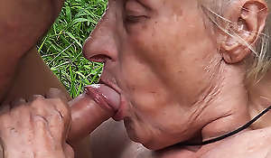 ugly 86 year old old lady banged in public