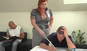 Tammy is a voluptuous, red haired woman who is always in the mood be useful to a mmf threesome