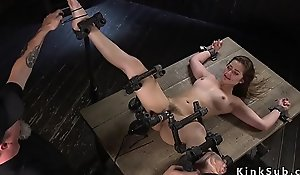 Slave beauty acquires unambiguous ass paddled