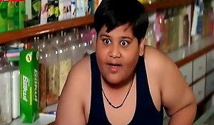 Boy Seeing Main Blue Saree Strip Navel Romantic scene