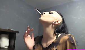 Goth Teen Suckle Punished for Smoking - MMF Threesome