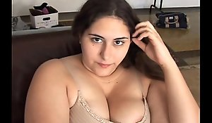 Gorgeous bosomy pitch-dark Plumper has a untidy dishevelled pussy