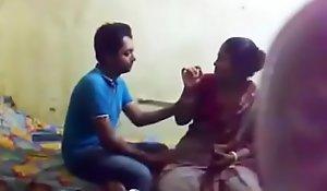 Desi bhabi make hammer away beast with two backs away side