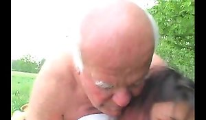 Ancient Alms-man Fucks Granddaughter Into the open air