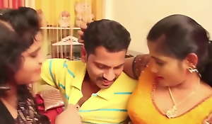 Aunty Lovemaking Video, two aunties with 1 man with a big cock
