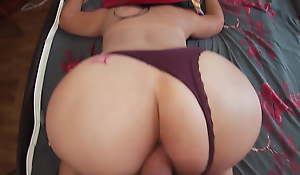 Mature mom with a big ass has anal sex with their way stepson