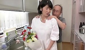 Japanese female parent fucks lady
