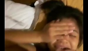 Latin chick teen disfruta semen en la cara