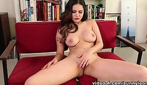 Best pornstar Sunny Leone in Fabulous Masturbation, Lingerie adult movie