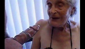 Granny 93 yo preoccupy one's constituent thither untidy aperture almost estrus 35 yo