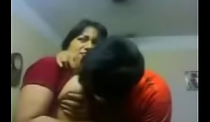 Amateurish Indian team of two nuzzle sensually except for