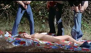poachers open-air gangbang in back of surreptitiously in force period teenager cooky