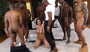 Ephemeral TINY Waxen GIRL GETS SMASHED IN A BBC GANGBANG